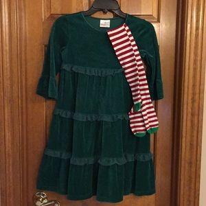 Hanna Andersson Christmas Dress & Tights